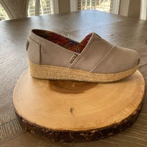 Bobs memory foam taupe wedges